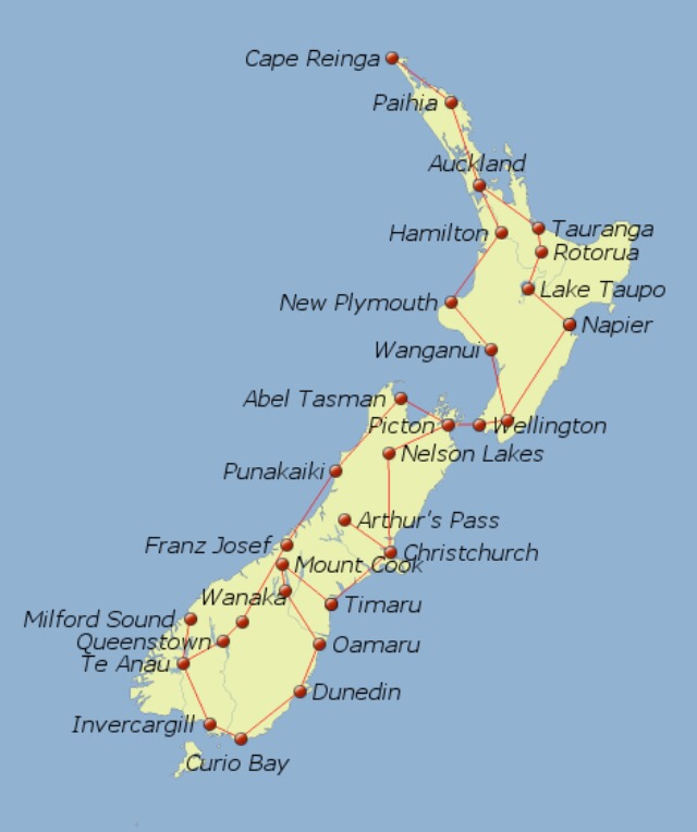 Map New Zealand – Carpe Diem